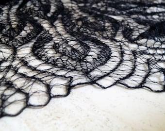 Black Shawl,Wool Shawl,Mohair Shawl,White Shawl,Bridal Shawl,Party Scarf,Handmade Shawl,Wedding Shawl,Women accessories,Knitted Shawl