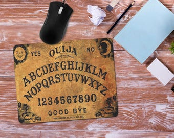 Ouija Mouse Pad, Ouija Board Mousepad, Office Desk Accessories, Personalized Mouse Pad, Office Supplies, Computer Desk, Halloween Birthday