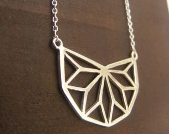 Silver Handmade Geometric Necklace
