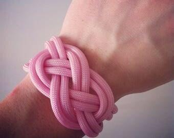 Paracord pink sailor knot bracelet