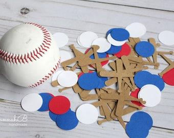 Baseball Confetti, Baseball Birthday Party Confetti, 100 pieces