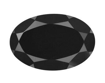 Thai Black Spinel Oval Cut Loose Gemstone 1A Quality 12x8mm TGW 4.20 cts.