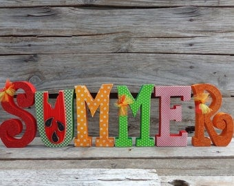 Summer Decor-Watermelon Decor-Summer Letter set