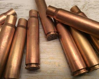 8mm Brass Bullet Shell Casings ( Lot of 10 ) Spent Ammo Steampunk Jewelry supply