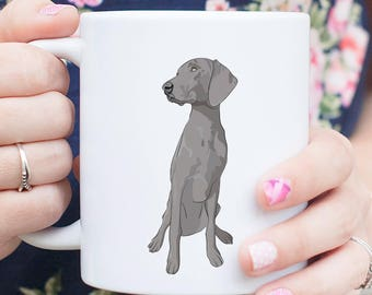 Maggie the Weimaraner Dog Mug - Gifts For Dog Owner, Weimaraner Lover, Gag Gift, Funny Dog, Dog Art, Dog Love