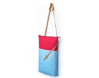 Color block tote bag, 17 inch macbook tote, sling pack, concealed carry bag, hipster crossbody bag, urban laptop bag, across body bag