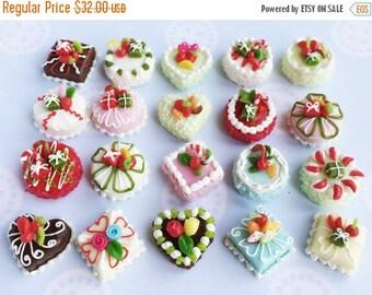On Sale15% 20pcs.Miniature Cake,Miniature Sweet,Miniature Bakery,Dollhouse Cake,Miniature Food,Dollhouse Sweet,Dollhouse Bakery,Miniature Ca