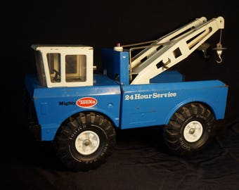 Vintage 1976 Tonka Mighty Wrecker # 3915, blue and white, great shape!