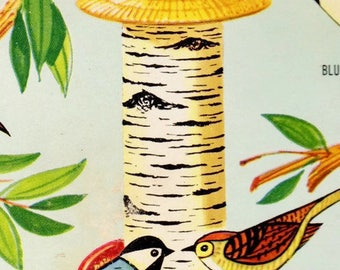 Vintage '60s Avon Plastic Birch Tree Bird Feeder Birdfeeder Kit 1967