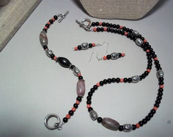 Jewelry Set Necklace, Brackelet and Earring Set Tribal Style