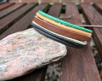 Leather Bracelet Women, Womens Leather Bracelet, Gift For Her, Womens Gift, Stylish Colorful Cuff Adjustable Braclet  19-JLA