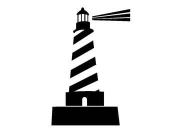 Lighthouse Decal, window, Great Lakes, light, house, vinyl, badge, sticker, ship