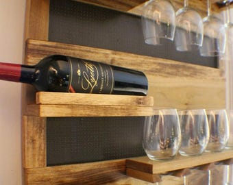 on sale 15 off georgous golden oak stained wall mounted wine rack with shelves and - Wine Racks For Sale