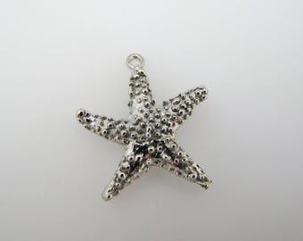 Brilliant Starfish Pendant Only in a Silver Tone
