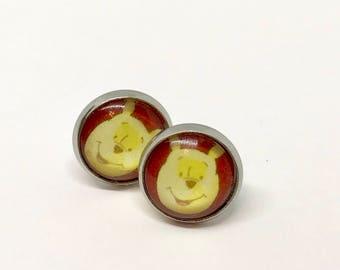 Silly Old Bear Disney Pooh Fan Art Earrings