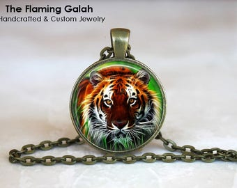 TIGER FACE Pendant • Roaring Tiger • Indian Tiger • Gift Under 20 • Made in Australia (P1369)