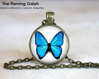 BUTTERFLY Pendant • Turquoise Butterfly • Blue Butterfly • Beautiful Butterfly • Butterfly Art • Gift Under 20 • Made in Australia (P1462)