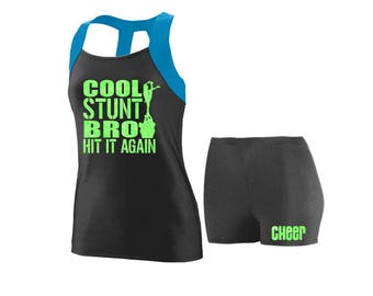 Cheer Practice Set Cool Stunt BLUE TANK