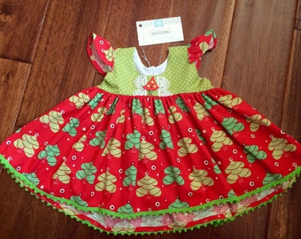 READY TO SHIP Christmas Tunic size 2T