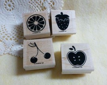 Stampin Up Tart and Tangy used rubber stamps set of 4