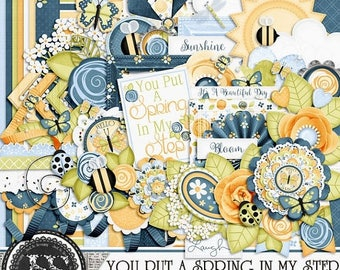 On Sale 50% You Put A Spring In My Step Digital Scrapbook Kit