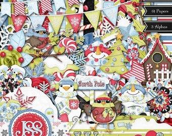 On Sale 50% Warm Hearts Digital Scrapbook Kit - Digital Scrapbooking