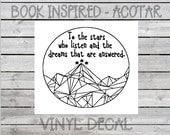 Decal // Vinyl // Book Love - Inspired // ACOTAR