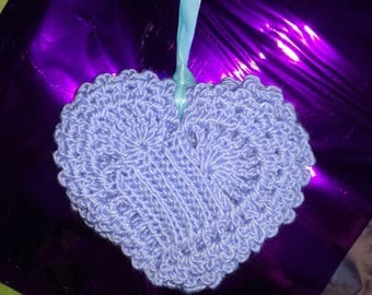 Crocheted Heart Coasters Set of 6