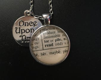 Read - Book Page Necklace and Charm
