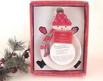 Snowman Serving Plate with Spreaders Hallmark Spreader Set NIB Winter Entertaining Tableware