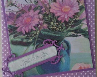 Generic greeting card, floral greeting card, just because greeting card, to keep in touch card
