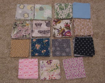 """275+ Precut Quilt Squares, 3.5"""", Various Cottons, FREE SHIPPING"""