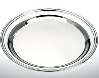 Round tray 31 cm-silver-plated
