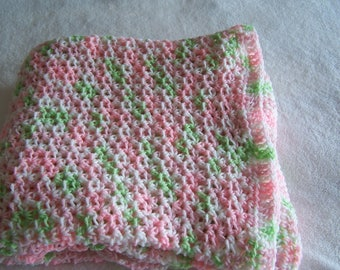Lap afghan for seniors or toddler afghan