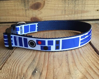 "R2D2 Dog Collar, Star Wars Dog Collar, Droid Dog Collar, Quick Release Buckle, 1"" Wide"