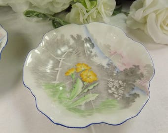 Shelley Butter/ Ring Dish Scalloped , 2 available.