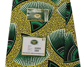 WHOLE 6 YARDS Vlisco Hollandais Dutch Block Wax Print / African  Ankara Fabric For Dresses and Craft makings/pagnes/Kitenge/Chitenge