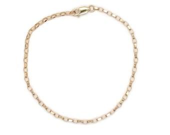 Gold Link Bracelet, Gold Chain Bracelet, Gold Bracelet, Charm Bracelet, Gold Charm Bracelet, Dainty Bracelet, Yellow Gold Bracelet, Bracelet