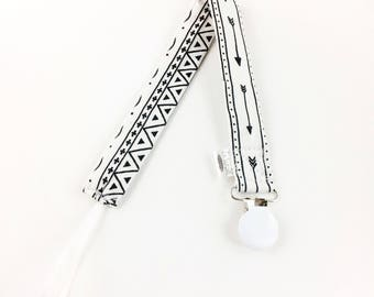 Tribal Arrow Soother Clip/Pacifier Clip/Toy Clip