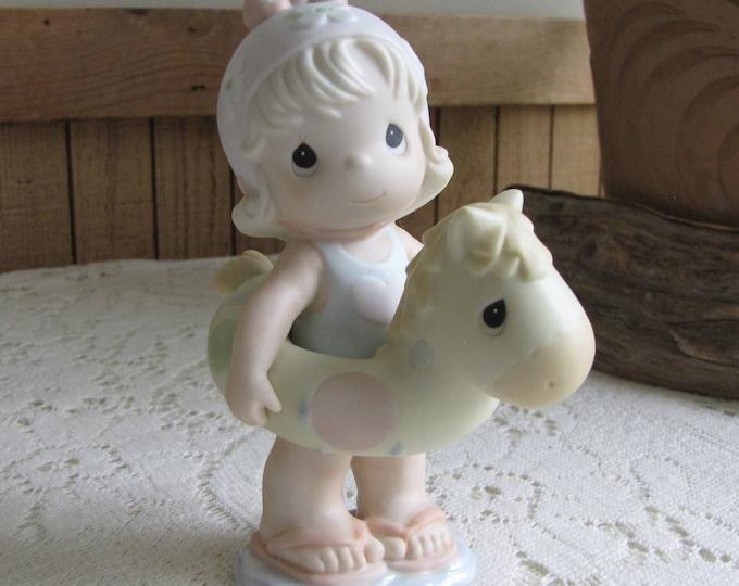 Precious Moments You're a Lifesaver to Me Figurine Heart 1996 Symbol Retired