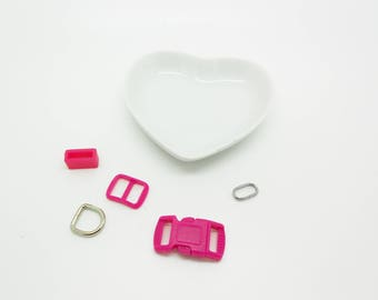 Kit for 10 mm fuchsia color cat necklace clasp