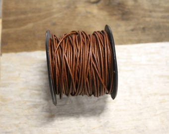 1.5mm  Natural Red/Brown Leather