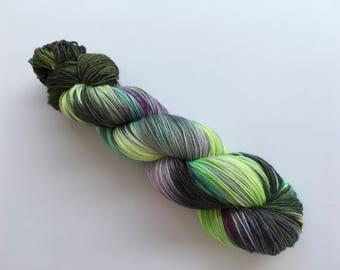 Galactic Hand Dyed Superwash Merino/ Nylon Sock Yarn