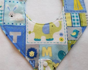 Boy Pacifier Bib, Binky Bib, Pacifier Holder, Binky Holder, Drool Bib With Pacifier Holder, Drool Bib With Binky Holder