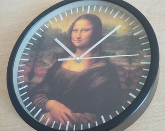 clock pattern wall art painting of Leonardo da Vinci Mona Lisa
