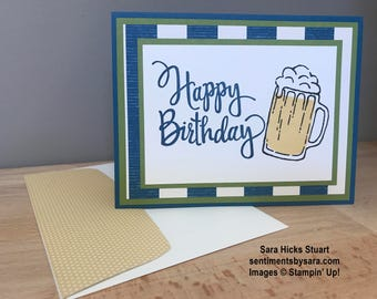 Happy Birthday card with Beer