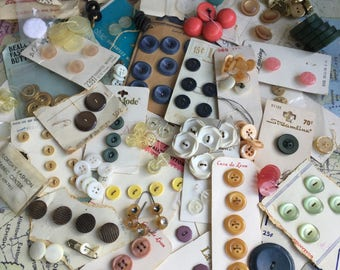 48 Vintage Button Sets with 10 Vintage Single Buttons