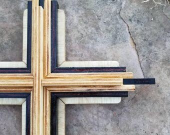 Multi Layer Wooden Cross Wall Decor