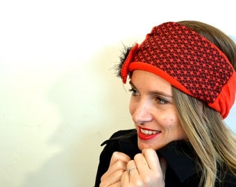 red headband with thai red coton