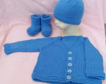 Baby boy gift set, new baby gift, baby cardigan, new baby, special occasion, baby gift set